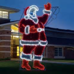 shop lighting specialists 17 ft animated waving santa outdoor decoration with