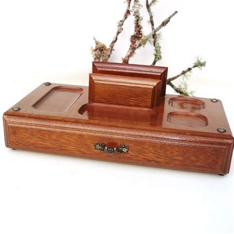 Mens Dresser Valet Tray by Vintage Mens Valet Wooden Dresser Tray Wood Box With