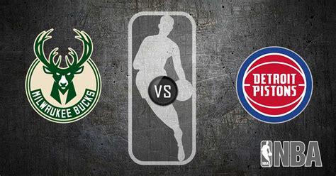Milwaukee Bucks vs Detroit Pistons Pick - NBA Preview for ...