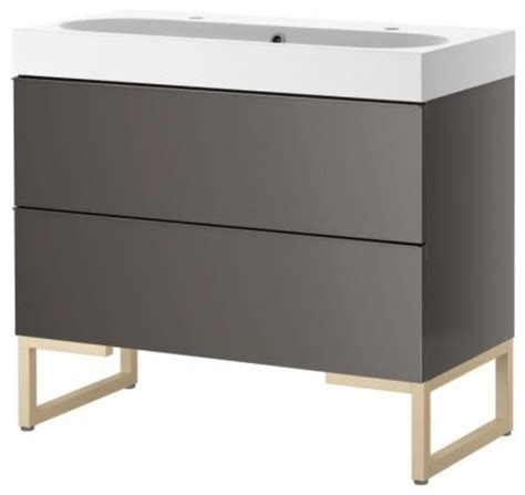 godmorgon br 197 viken sink cabinet with two drawers gray
