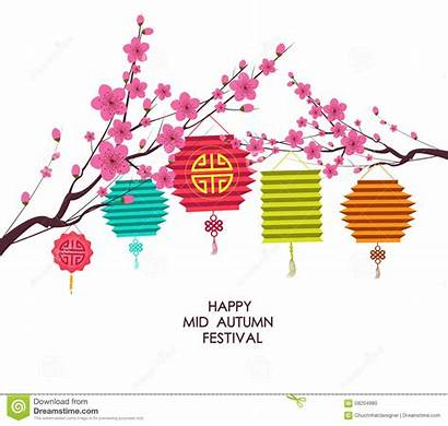 Autumn Festival Mid Chinese Lantern Background Traditional