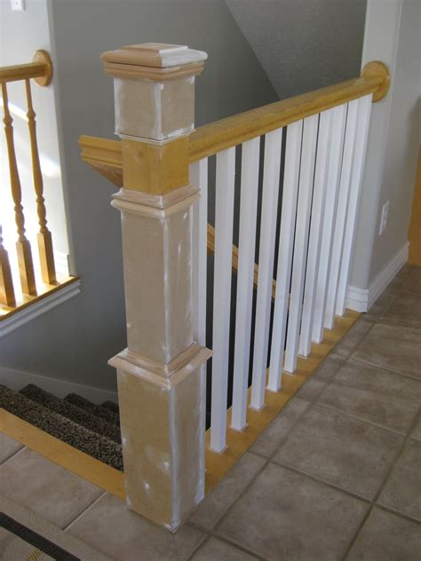 lpost or l post remodelaholic stair banister renovation using existing