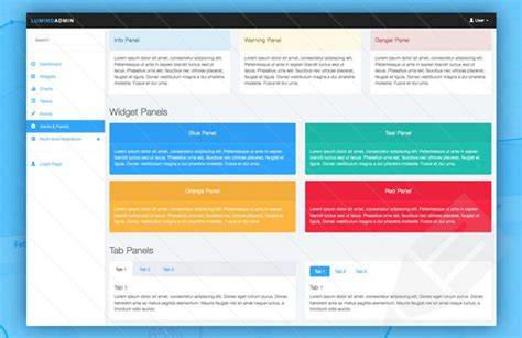 bootstrap 4 templates free lumino free bootstrap admin template designbeep