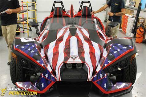 polaris slingshot american flag wrap ap vehicle wrapping
