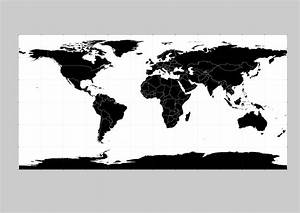 17 World Vector Black Images - Free Vector World Map ...