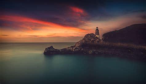 lighthouse sea horizon photography hd wallpapers