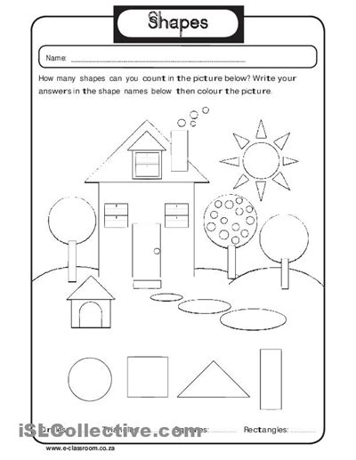 16 best images of plane shapes worksheets for kindergarten