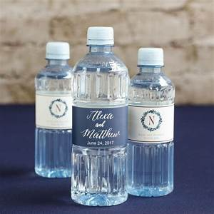 Custom label bottled water wedding designs for Custom wedding water bottles