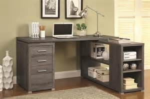 Corner Dining Room Table Walmart by Coaster 800518 Grey Wood Office Desk Steal A Sofa