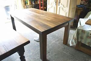 Table De Cuisine En Bois : table de cuisine n 1042 le g ant antique ~ Teatrodelosmanantiales.com Idées de Décoration