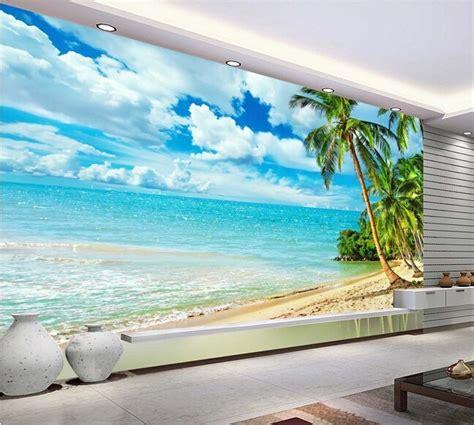 custom photo wallpaper hawaii beach murals   living