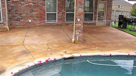 quot winds of change quot stained concrete patio in fort worth