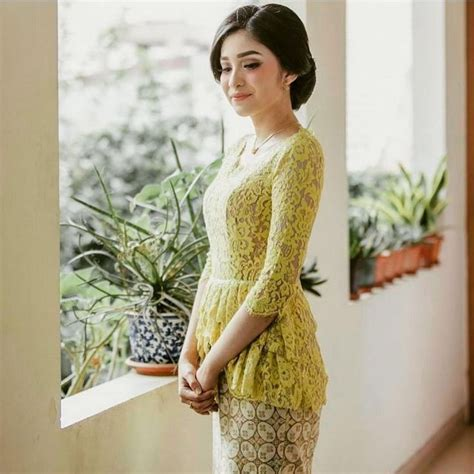 Kebaya Am 222 kebaya modern warna kuning moco wo
