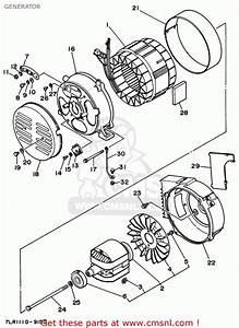 Yamaha Ef3800 7lr1 Ef3800e 7lr1 Generator 1996 Generator
