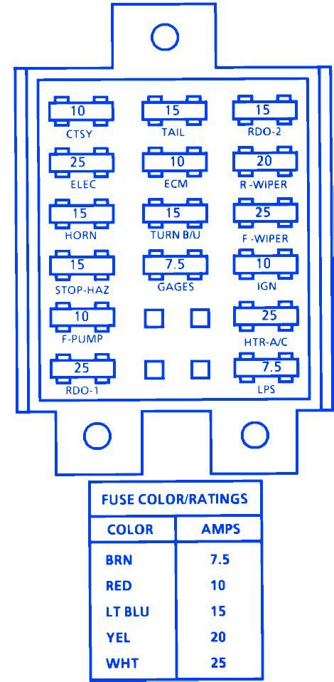 Chevrolet Lumina Van Fuse Box Block Circuit
