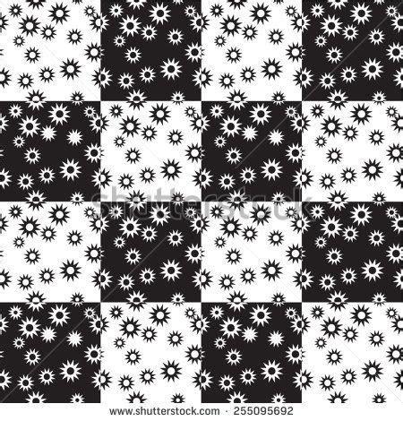 vector seamless pattern geometric background black