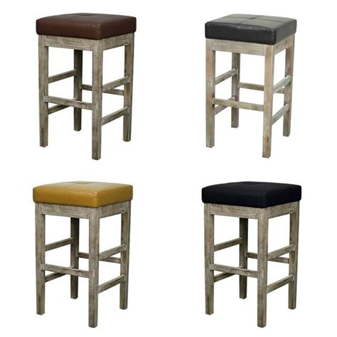 backless leather counter stools valencia square backless counter stool mystique gray legs 4247