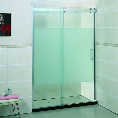 frosted shower doors partially frosted glass shower doors bathroom