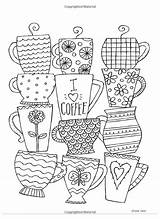 Coloring Pages Cafe Adult Books Volume Ronnie Walter Printable Coffee Sheets Doodle Dibujos Para Colouring Baptism Journal Grown Ups Colorear sketch template