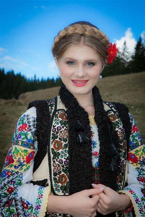 Beautiful Romanian Traditional Costume Girl