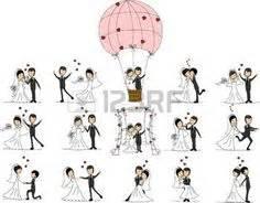 Dessin Couple Mariage Noir Et Blanc : mariage blanc et noir dessins couple pinterest ~ Melissatoandfro.com Idées de Décoration