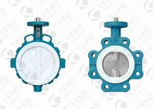 Center Lined Body Ptfe Lined Valves   Wafer Connection