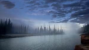 Full HD Wallpaper fog river forest autumn alaska overcast ...