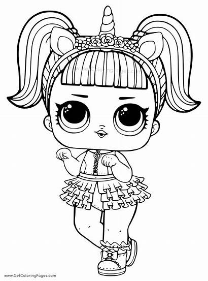 Lol Doll Coloring Pages Surprise Unicorn Getcoloringpages