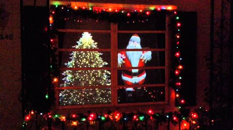 christmas window santa  video projection display youtube