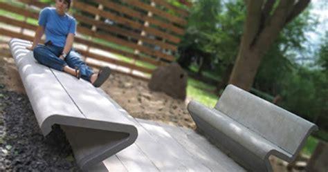 lingkar warna  kursi taman inspiratif  beton  kayu