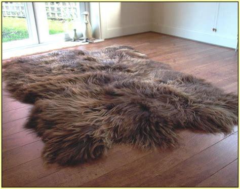 big fur rug large sheepskin rug home design ideas
