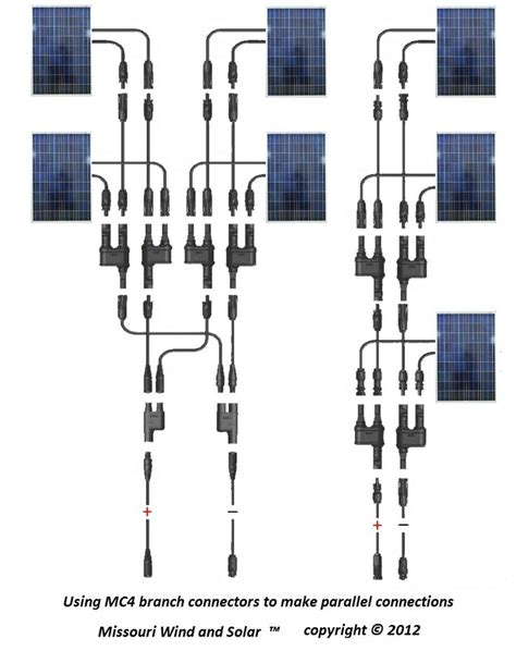 mc4 t branch connector solar panel parallel wiring diagram solar wind power