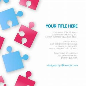 Puzzle pieces template Vector | Free Download