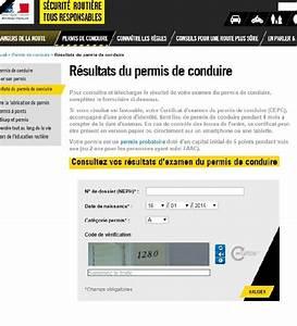Permis Conduire En Ligne : permis de conduire les r sultats d sormais consultables en ligne photo 2 l 39 argus ~ Medecine-chirurgie-esthetiques.com Avis de Voitures