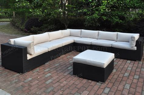 428 outdoor patio 8pc sectional sofa set by poundex w options
