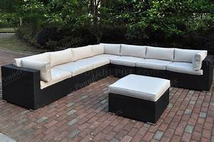 428 outdoor patio 8pc sectional sofa set by poundex w options With 8 pc sectional sofa