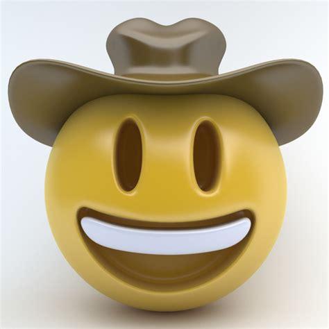 emoji cowboy   model turbosquid