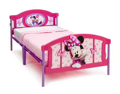delta children minnie mouse plastic 3d twin bed baby