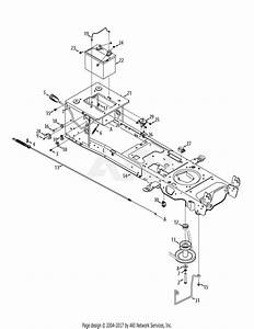Mtd 13ax915t004  2012  Parts Diagram For Manual Pto  U0026 Battery