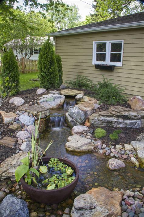 garten wasserfall selber bauen wasserfall im garten selber bauen 99 ideen wie sie die harmonie der natur genie 223 en
