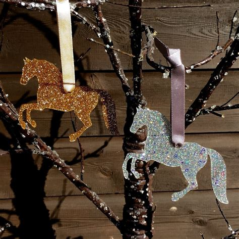 rearing horse christmas decoration life   gallop