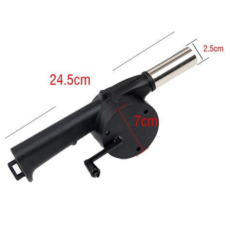 barbecue fan air blower outdoor hand crank powered cooking bbq fan air blower for