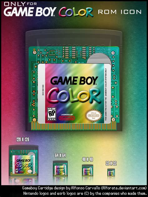 gameboy color rom gameboy color only rom icons by alforata on deviantart