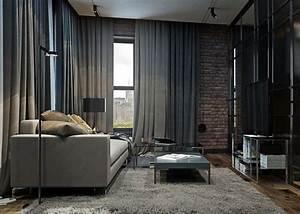 Mur Brique Salon : salon noir et blanc et salon gris en 50 photos remarquables ~ Zukunftsfamilie.com Idées de Décoration