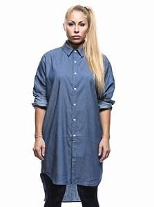 Women39s long sleeve shirt asymmetric cut for Robe chemise longue femme