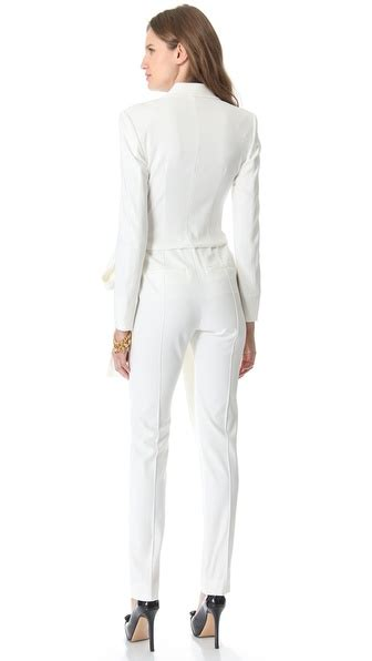 white sleeve jumpsuit white jumpsuit sleeve trendy clothes