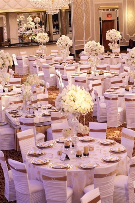 reception d 233 cor photos all white chair covers with gold