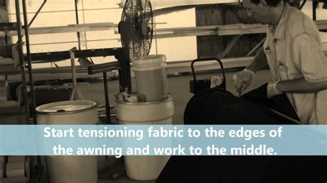 Milliken Awning System How To Quickly Staple My Awning