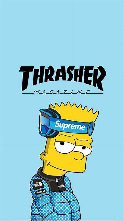 Supreme Bart Simpson Cool Wallpapers Simpsons Thrasher