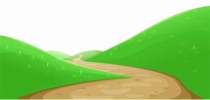 Hill Clipart Valley Pathway Mountain Cliparts Hills